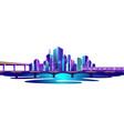 city ocean vector image vector image