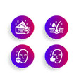 cream serum oil and uv protection icons set vector image vector image