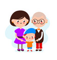 cute happy smiling lesbian couple with son vector image