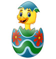 cute little duck hatched from an egg vector image vector image