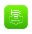 dirigible icon green vector image