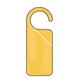 door knob do not disturb hanger corporate empty vector image