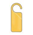 door knob do not disturb hanger corporate empty vector image vector image