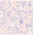 easter holiday seamless pattern spring gentle vector image
