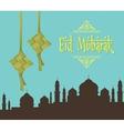 eid mubarak ramadhan moslem islam day vector image
