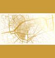 elche spain city map in retro style in golden vector image vector image