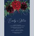 elegant floral watercolor style wedding invite vector image vector image