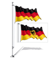 Flag Pole Germany vector image vector image