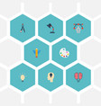 flat icons bulb artist wings and other vector image vector image