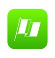france flag icon digital green vector image