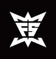 fs logo monogram with crown up down side design vector image vector image