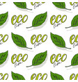 green seamless pattern eco life background vector image vector image