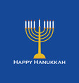 Happy hanukkah greeting card candlestick vector image