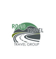 icon for road travel or tourism group vector image vector image