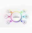 infograph 6 element with centre circle graphic vector image vector image