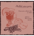 Invitation template for mulled wine party vector image vector image