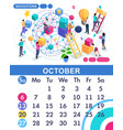 isometric business calendar of 2019 vector image vector image
