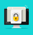 locked access to document file online flat vector image vector image