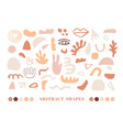 modern natural abstractions elements set vector image vector image