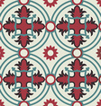 Mosaic floor pattern with vintage decoration vector image vector image
