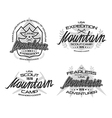 Mountain emblems for t shirt vector image vector image