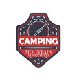 mountain extreme adventures vintage isolated badge vector image vector image