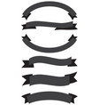 old ribbon banner black and white vector image vector image