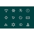 Outline UI technology icons set vector image vector image