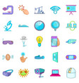 progressive icons set cartoon style vector image vector image