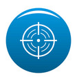 rear sight icon blue vector image vector image