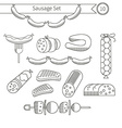 Sausages collection vector image vector image