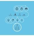 Set of Christmas templates vector image