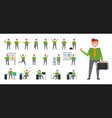 set of icons depicting businessman isolated vector image