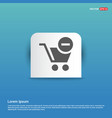 shopping cart and delete sign - blue sticker vector image vector image