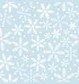 sky blue and white snowflakes vector image