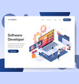 software developer isometric concept vector image vector image