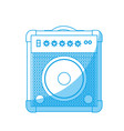 speaker amplifier icon vector image vector image