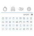 Sport and fitness icons vector image vector image
