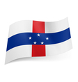 State flag of Netherlands Antilles vector image