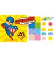 superhero background set super hero character vector image vector image