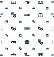 theater icons pattern seamless white background vector image vector image