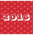 Theme 2016 Text Background Merry Christmas and vector image vector image