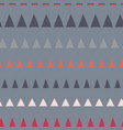 triangles in a row seamless pattern vector image vector image