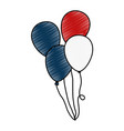 united states of america balloons air vector image