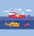 water transport for carriage goods exploring vector image