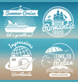 white vintage vacation logo set - summer travel vector image vector image