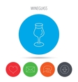 Wine glass icon Goblet sign vector image vector image