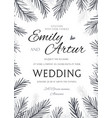 winter wedding invitation save the date card vector image