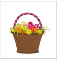 with basket vector image vector image