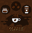 coffee flat concept icons vector image